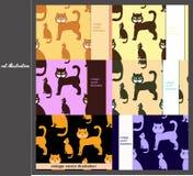 Set koty dla pocztówek również zwrócić corel ilustracji wektora Zdjęcia Stock