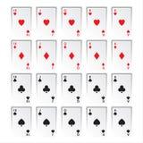 Set królewscy sekwensy odizolowywający na białym tle, serca ilustracja wektor
