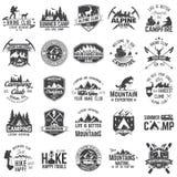 Set krańcowe przygod odznaki Pojęcie dla koszula, logo, druk, znaczek lub trójnik, Zdjęcia Stock