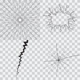 Set krakingowy i łamany szkło ilustracja wektor
