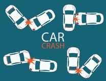 Set kraksa samochodowa i wypadki Zdjęcie Royalty Free