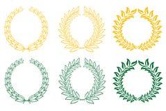 set kranar för lagrar royaltyfri illustrationer