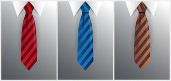 Set krawat, krawat na szarym tle również zwrócić corel ilustracji wektora Obrazy Royalty Free