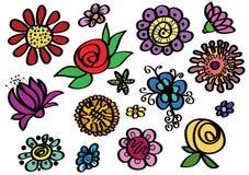 Set kreślący colour wektor royalty ilustracja