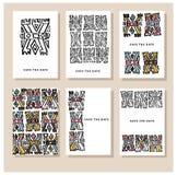 Set kreatywnie karty Zdjęcia Stock