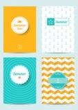 Set kreatywnie lato karty ilustracja wektor