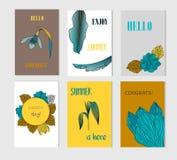 Set kreatywnie Ogólnospołeczni Medialni sprzedaż sztandary z dyskontowym offe lub chodnikowowie Obraz Royalty Free