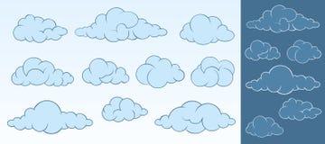 Set kreskówek chmury ilustracja wektor