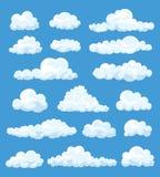 Set kreskówek chmury royalty ilustracja