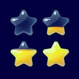 Set kreskówek glansowane gwiazdy Zdjęcie Stock