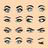 Set kreskówek oczy 2 ilustracji