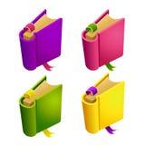 Set kreskówka koloru różna książka Zdjęcia Royalty Free