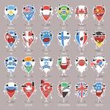 Set kreskówki mapy pointery Z wyrażeniami Fotografia Royalty Free