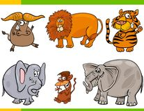 Set kreskówki zwierzęcia charaktery ilustracji