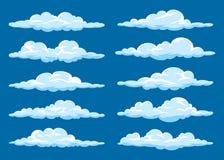 Set kresk?wek chmury ilustracji