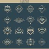 Set kreskowe art deco logotypów ram granicy Obrazy Stock