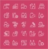 Set Kreskowe ikony Karmowi Additives Obraz Royalty Free