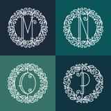 Set kreskowi wektorowi monogramy ilustracja wektor