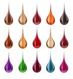 Set krople z barwionym włosy obraz royalty free