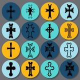 Set krzyże armenian krzyż zapas Obraz Royalty Free