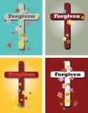 Kwiecisty set krzyże, Wybaczający ilustracji