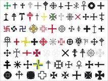 Set krzyże Obraz Royalty Free