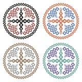 Set krzyże z galonowym ornamentem Fotografia Royalty Free