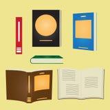 Set książka Płaski Wektorowy projekt Fotografia Stock