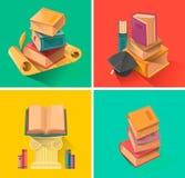 Set książka w płaskim projekcie Obraz Stock