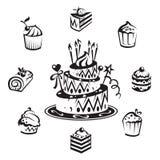 Set Kuchen stock abbildung