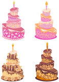 Set Kuchen Lizenzfreies Stockbild