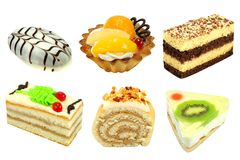 Set Kuchen lizenzfreie stockfotografie