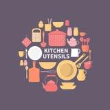Set kuchenne ikony Zdjęcie Stock