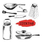 Set kuchenni naczynia Obrazy Royalty Free