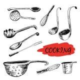 Set kuchenni naczynia Zdjęcia Stock