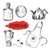 Set kuchenni naczynia Zdjęcie Stock