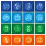 Set kuchennych urządzeń mieszkania ikony Obrazy Royalty Free