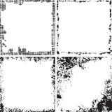 Set kwadratowe grunge ramy Obraz Stock