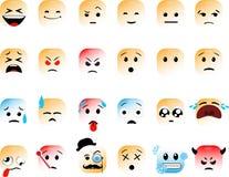 Set Kwadratowi emoticons ilustracja wektor