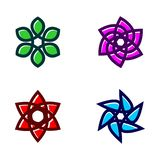 Set kwiat ikony wektor ilustracja wektor