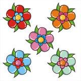 Set kwiaty Obraz Royalty Free