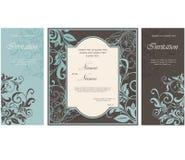 Set kwieciste zaproszenie karty Zdjęcie Royalty Free