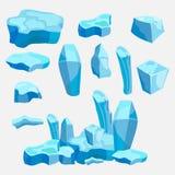 Set lód krzyżuje, lodowaty projekt, gemowy projekt ilustracja wektor