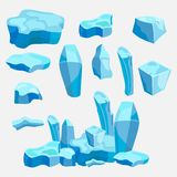 Set lód krzyżuje, lodowaty projekt, gemowy projekt royalty ilustracja