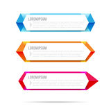 Set of label banner polygon element background colorful pattern. Triangle, vector illustration Stock Photography