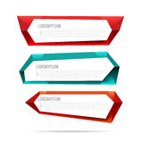 Set of label banner polygon element background colorful pattern Stock Photography