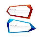 Set of label banner polygon element background colorful pattern Royalty Free Stock Photography