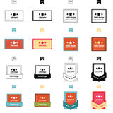 Set of label design 4 styles. Vectors design eps10 Royalty Free Stock Images