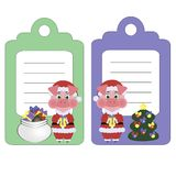 Set label illustrations of a pig the symbol of the 2019 New year royalty free illustration
