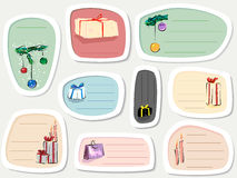 Set of label with presents in cartoon style (Part 2). Stock Photos